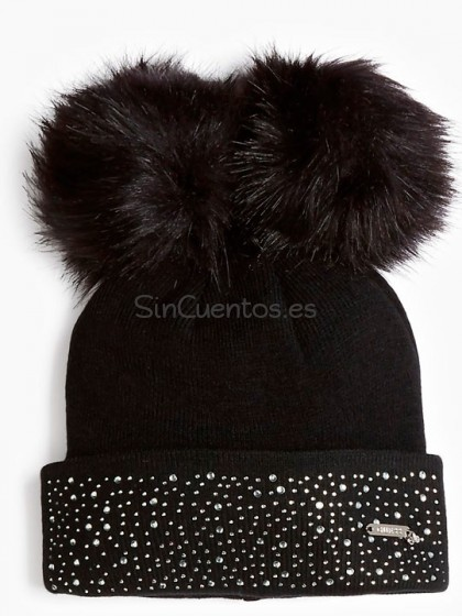 Gorro pompones Guess Complementos